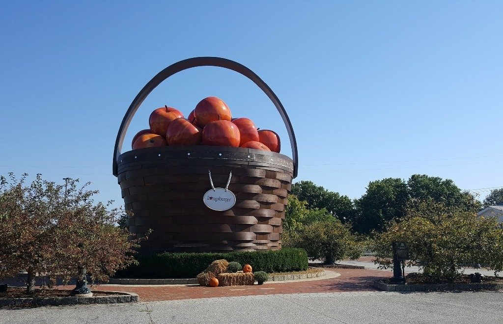 giant sized apple basket