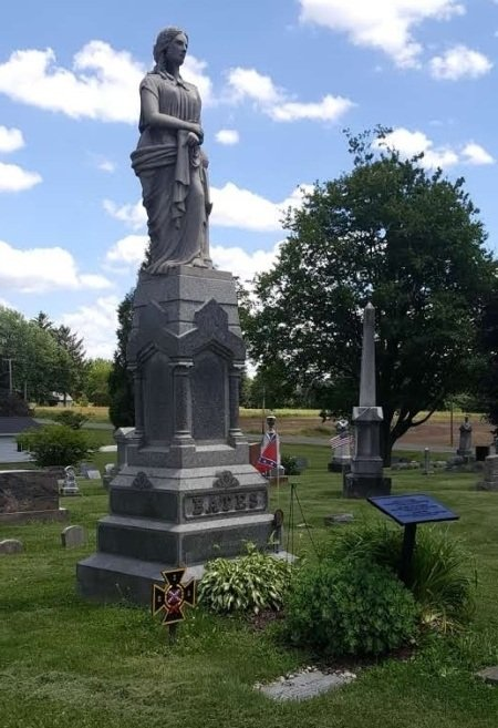 Giant cemetery tombstone