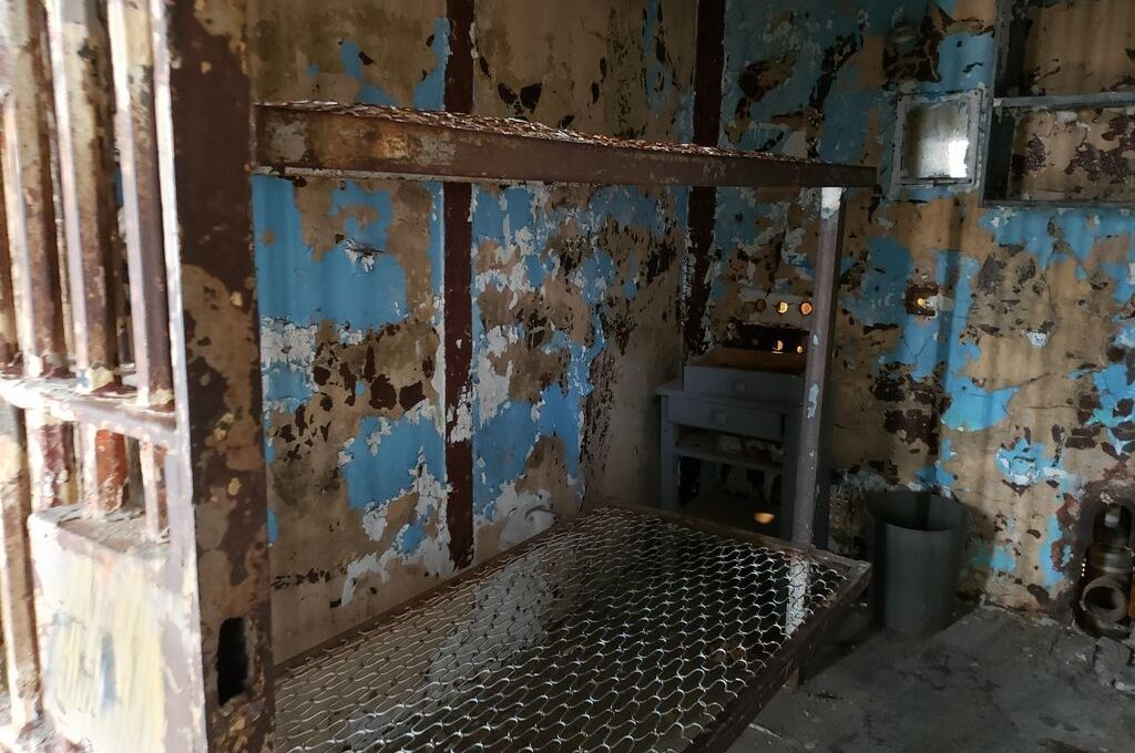 An old prison cell inside the East Cell Block at the Ohio State Reformatory