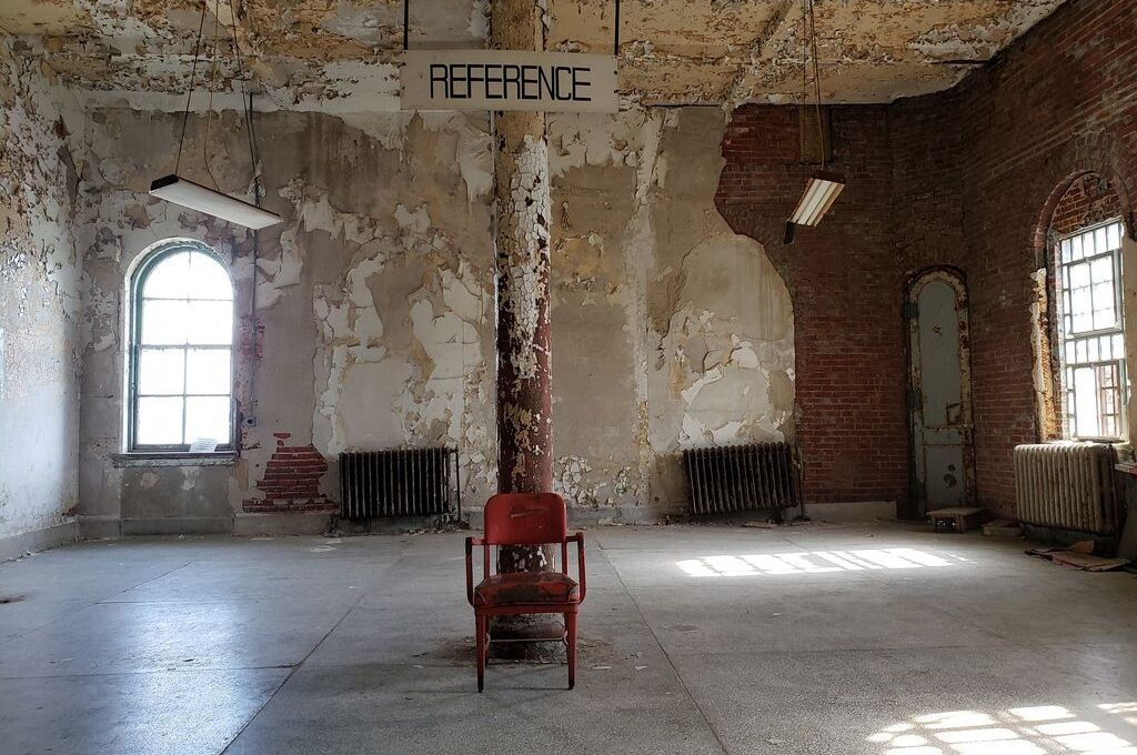 This room was the former library in the historic prison.