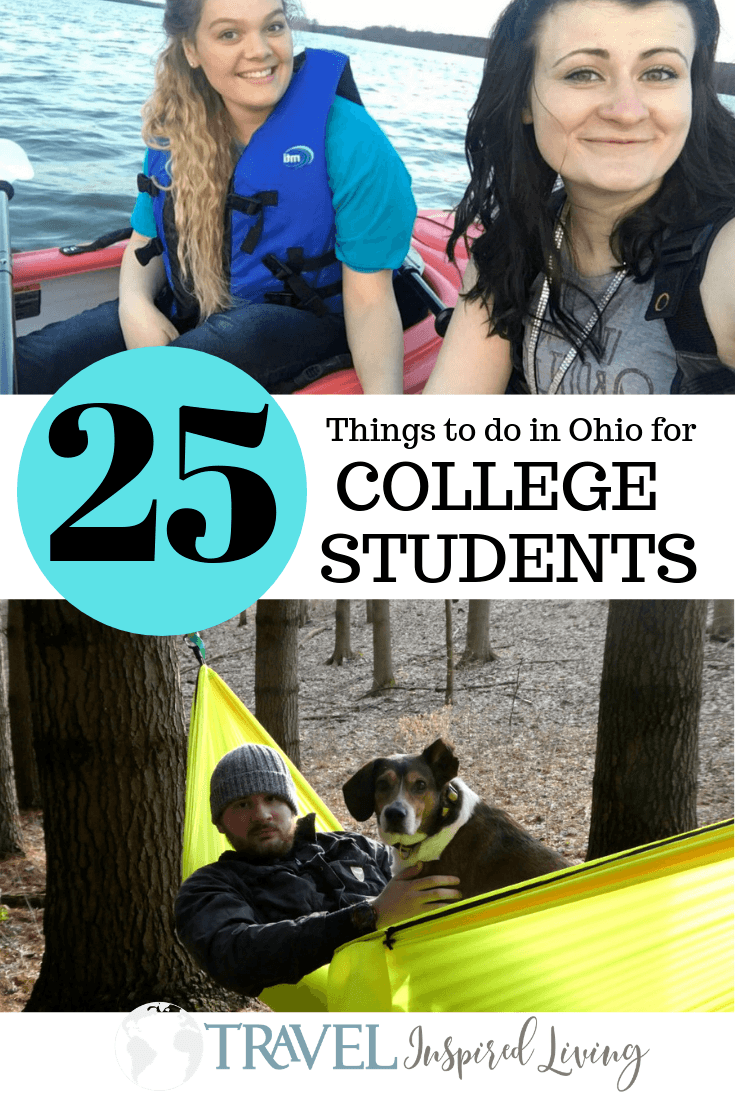 Over 25 fun activities and things to do in Ohio for college students.