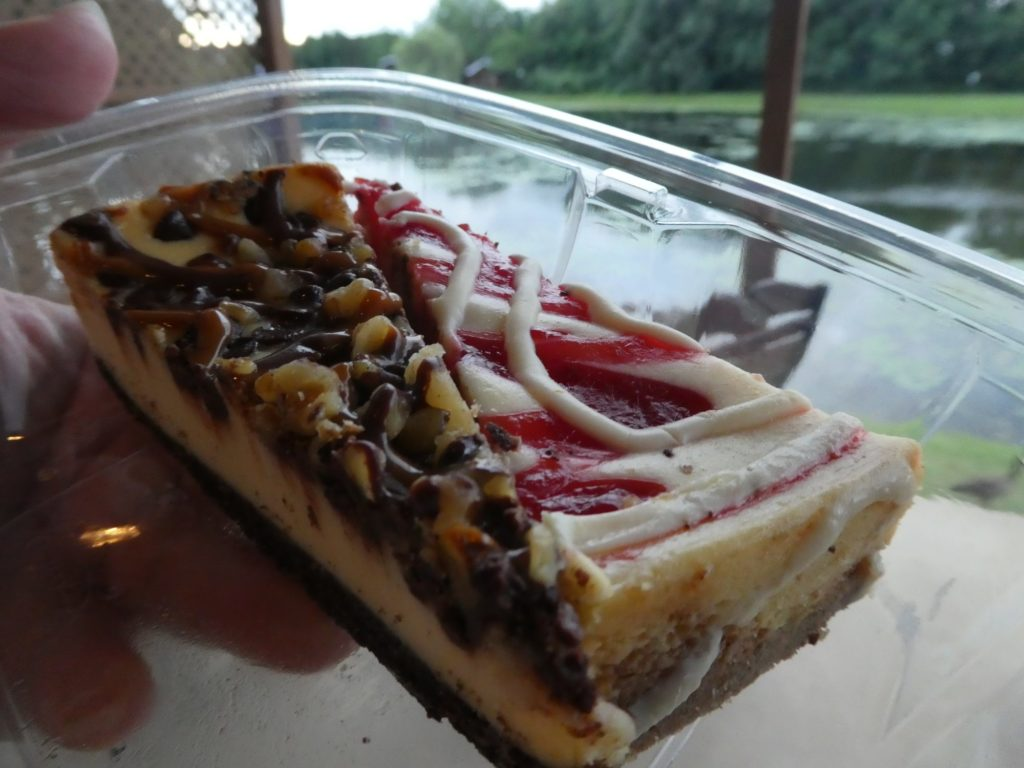Cheesecake delivered to our Butler Box at Serenity Springs.