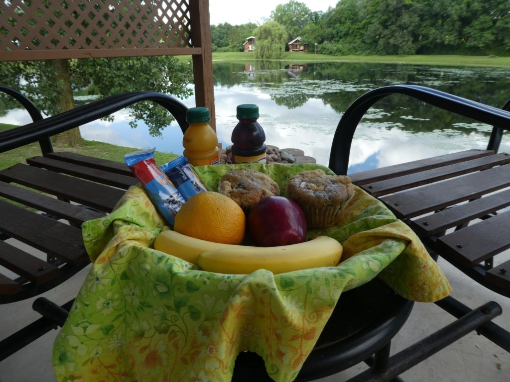 The Breakfast Basket at Serenity Springs is delivered to your room the night before so it's ready when you want it.