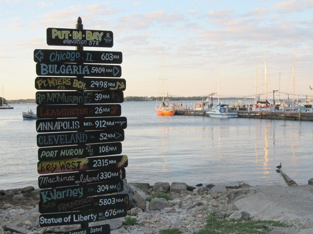 The Put-in-Bay sign is one of the best places on the island for a photo op.