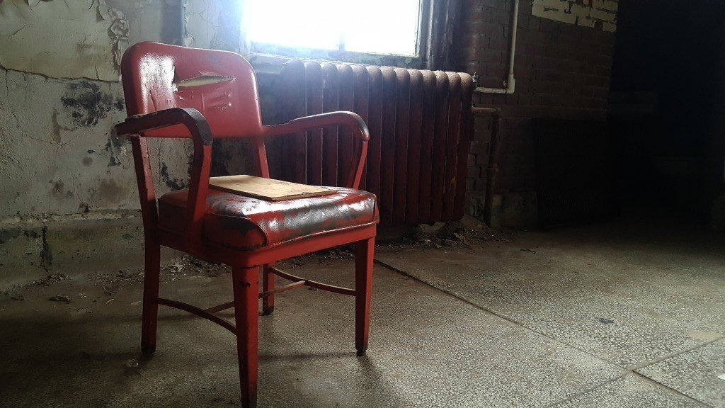 Red Chair at the Ohio State Reformatory