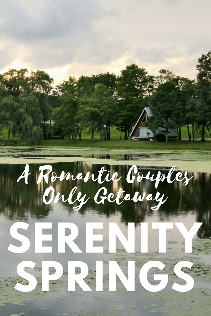 Serenity Springs in northwest Indiana is a perfect romantic couples only getaway a short drive from Chicago.