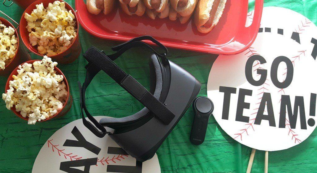 Take Dad out to the Ballgame Party using Intel True VR technology.