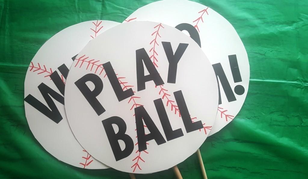 ake me out to the ballgame signs