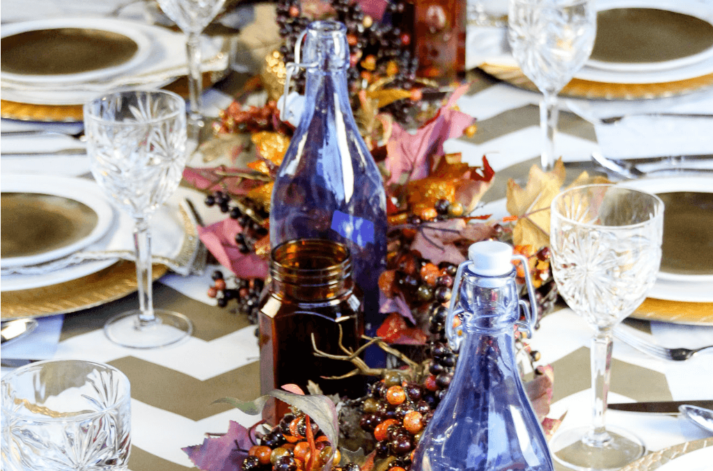 Gold Stain Church Inspired Tablescape