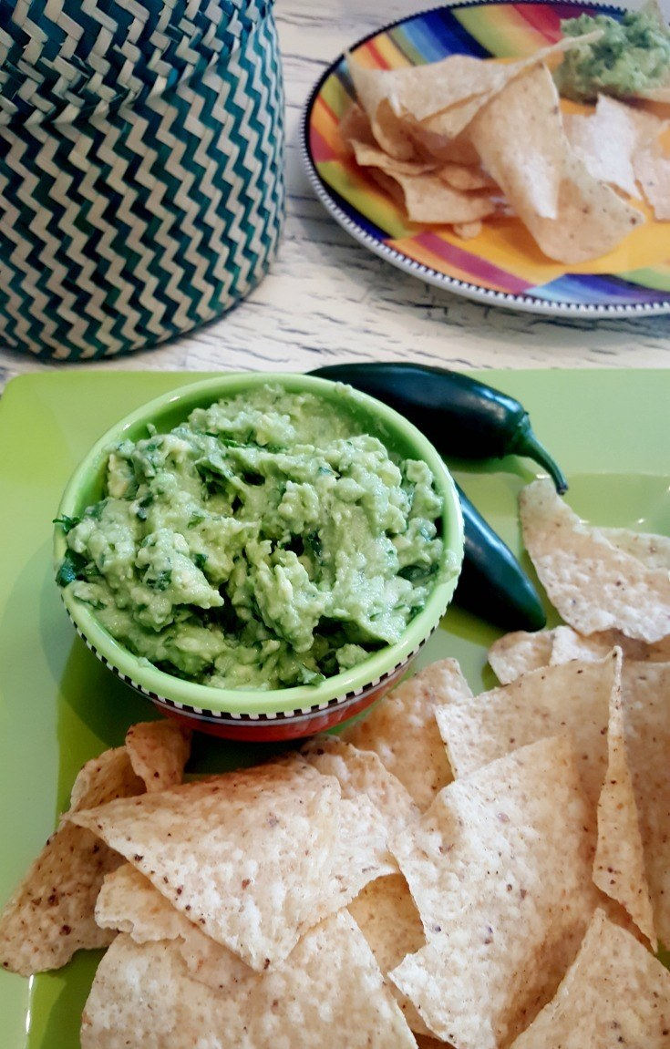 Guacamole is a quick and delicious snack with chips or great addition to nachos and even chili cheese fries.