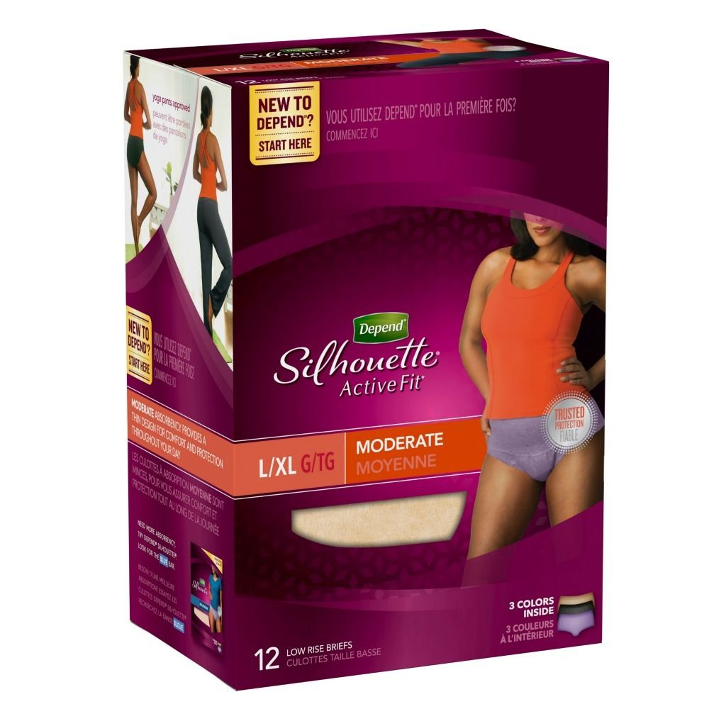 4. Depend® Silhouette® Active Fit® Briefs for those moments you're not sure you'll make it to the restroom while van camping.