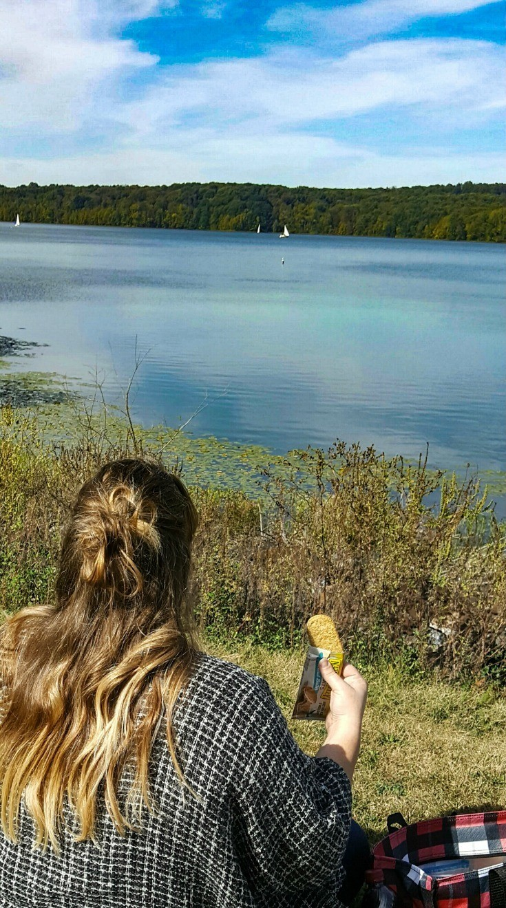 Enjoying the view with a Nature Valley Biscuit Snack