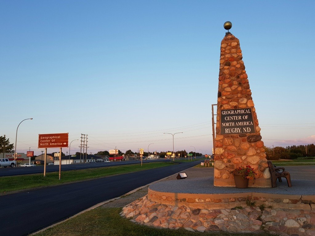 Geographic Center of North America in Rugby