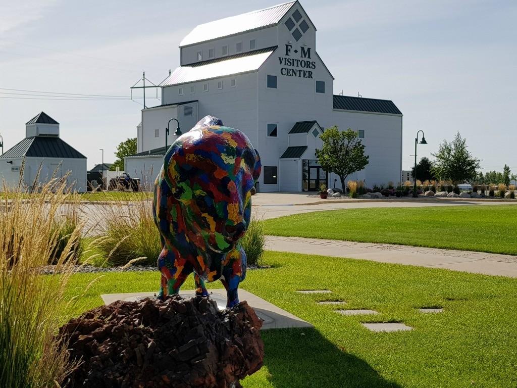 One of 20 Painted Buffalo in Fargo