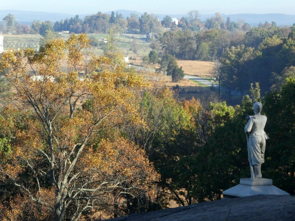 A fall view of Gettysburg National Battlefield.