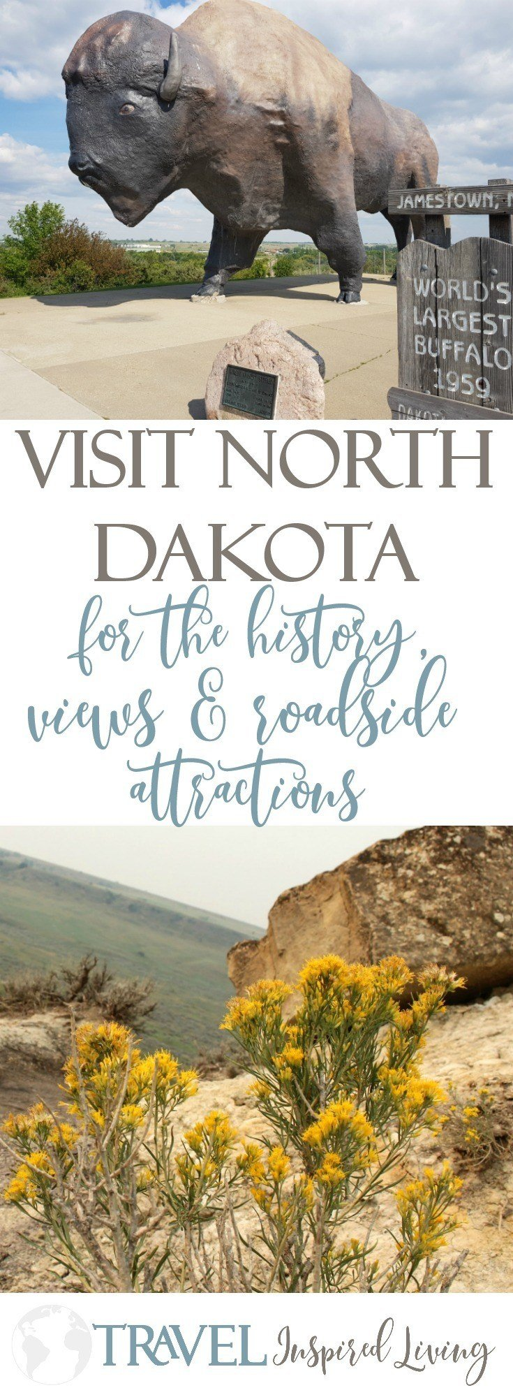 Visit North Dakota for the history, views and roadside attractions