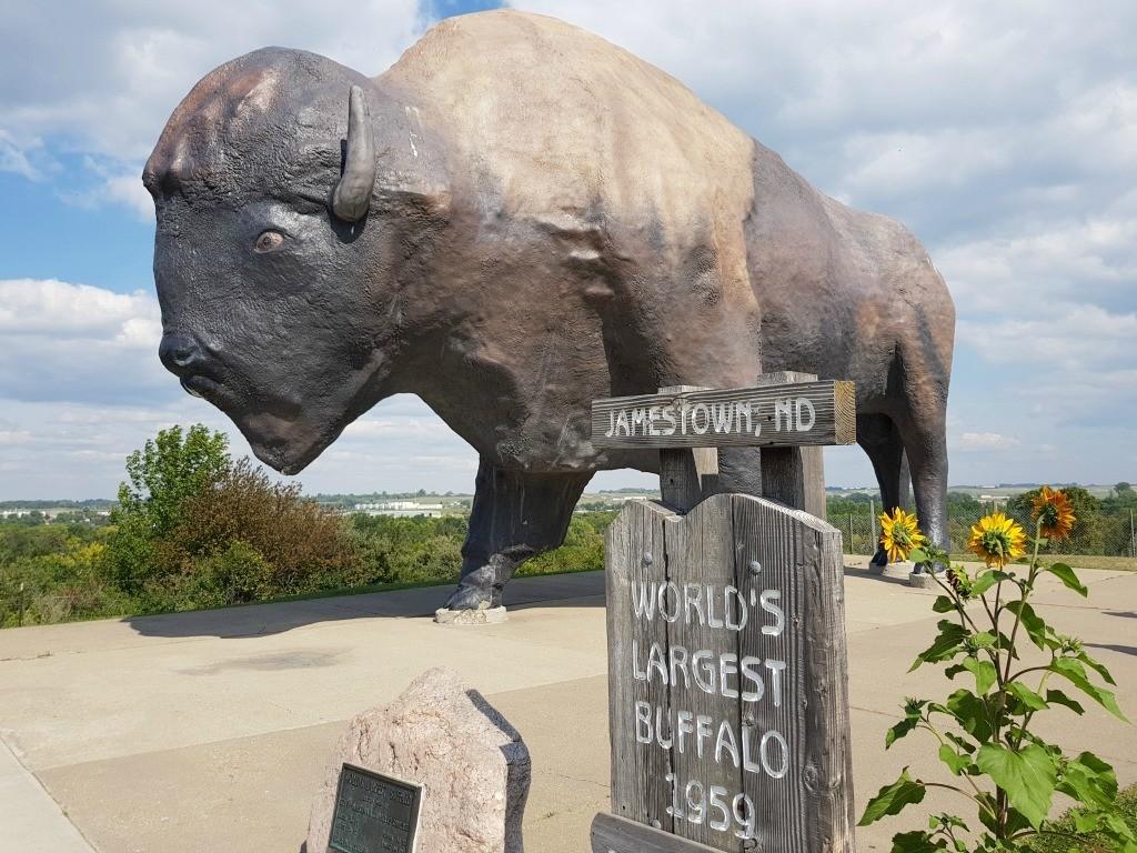 World's Largest Buffalo in Jamestown