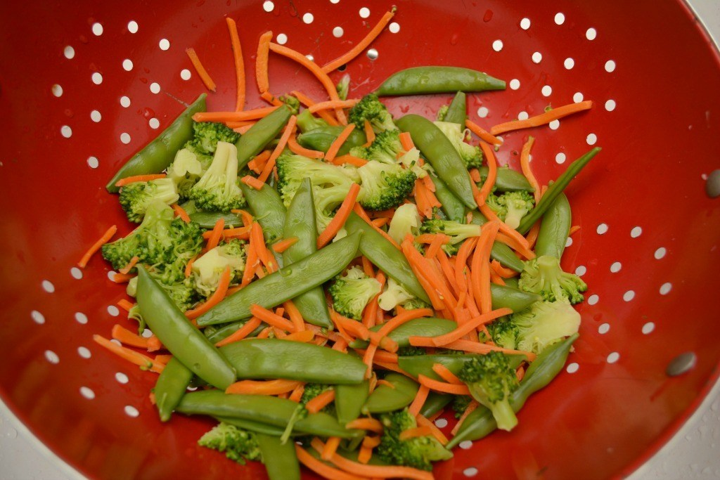 Drain your veggies for Beef Ramon
