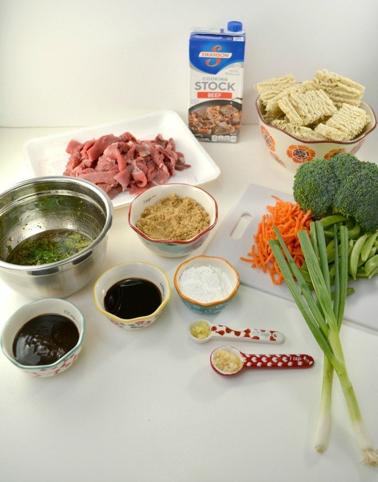 Ingredients for beef ramon