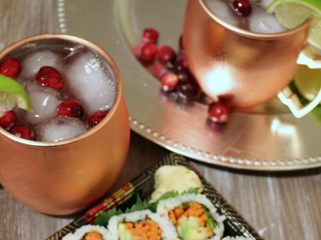 Entertain with Cranberry Moscow Mule Mocktail made with ROOT 23 Simple Syrups