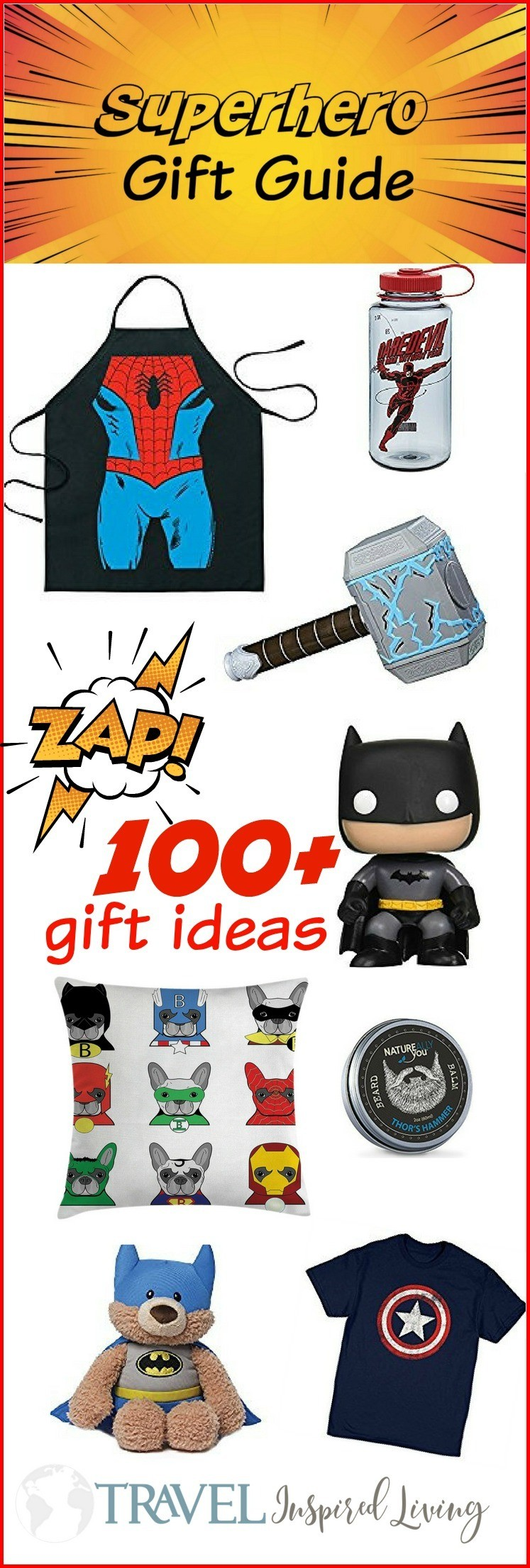 This Superhero gift guide has over 100 superhero gift ideas. You're sure to find something for the superhero lover in your life.