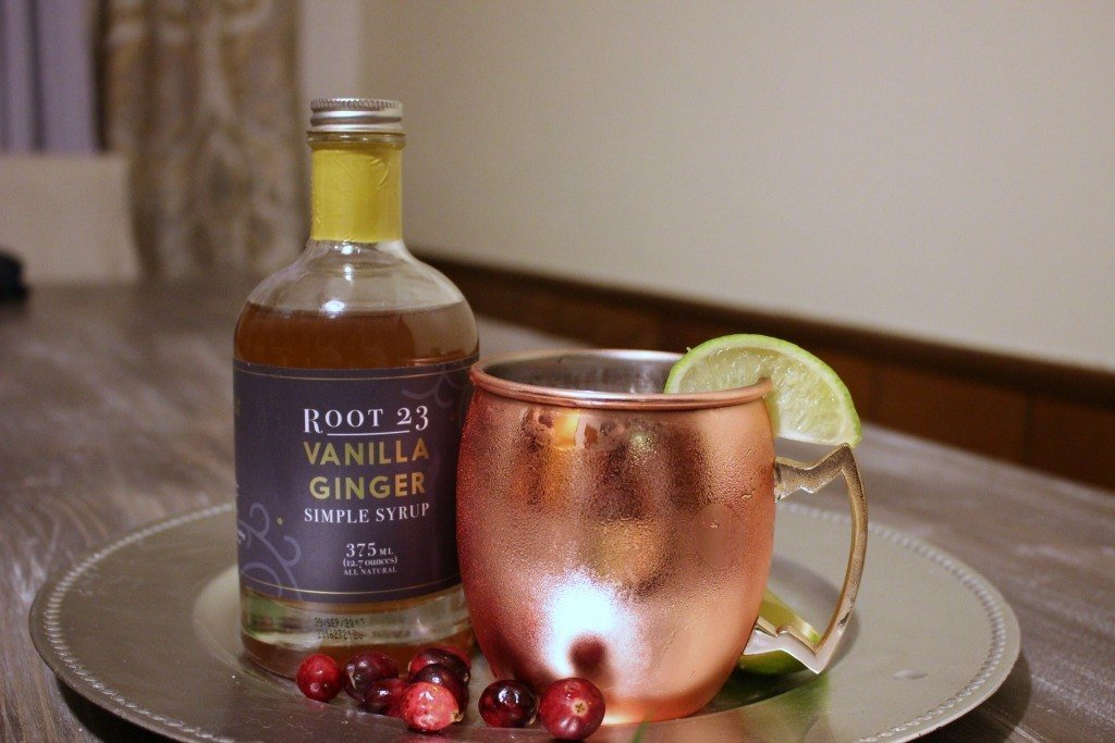 Root 23 Vanilla Ginger Cranberry Moscow Mule Mocktail REcipe