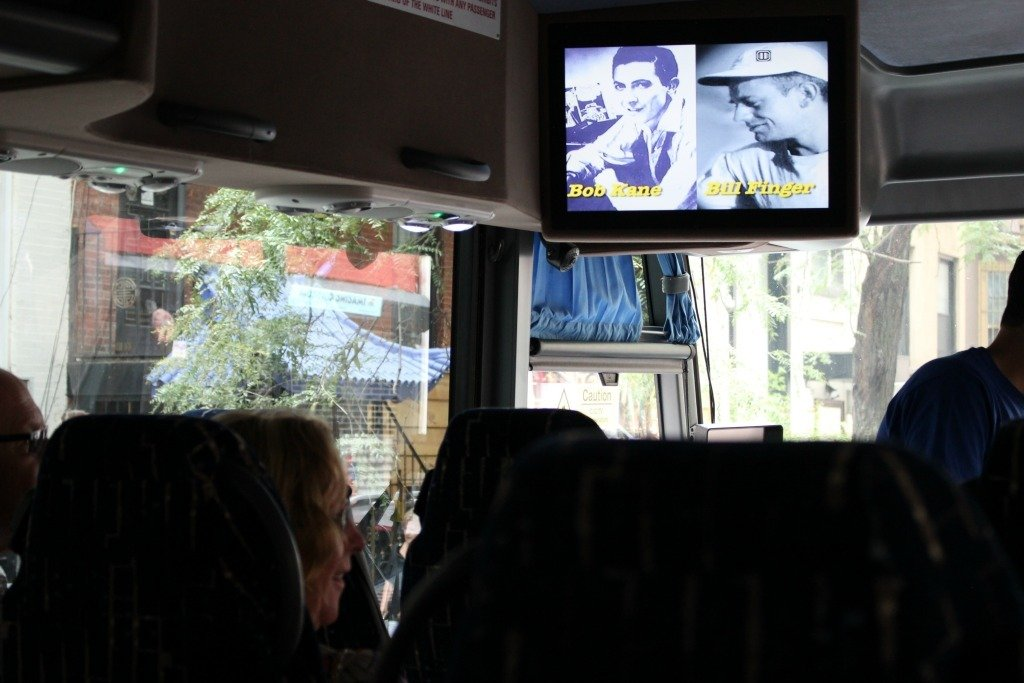 While on your bus tour you can watch clips from the movies on the screen