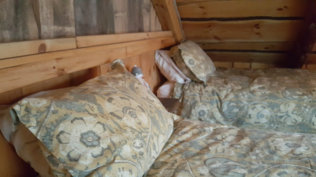 One of the bedrooms in the Killbuck Cabin at The Mohicans