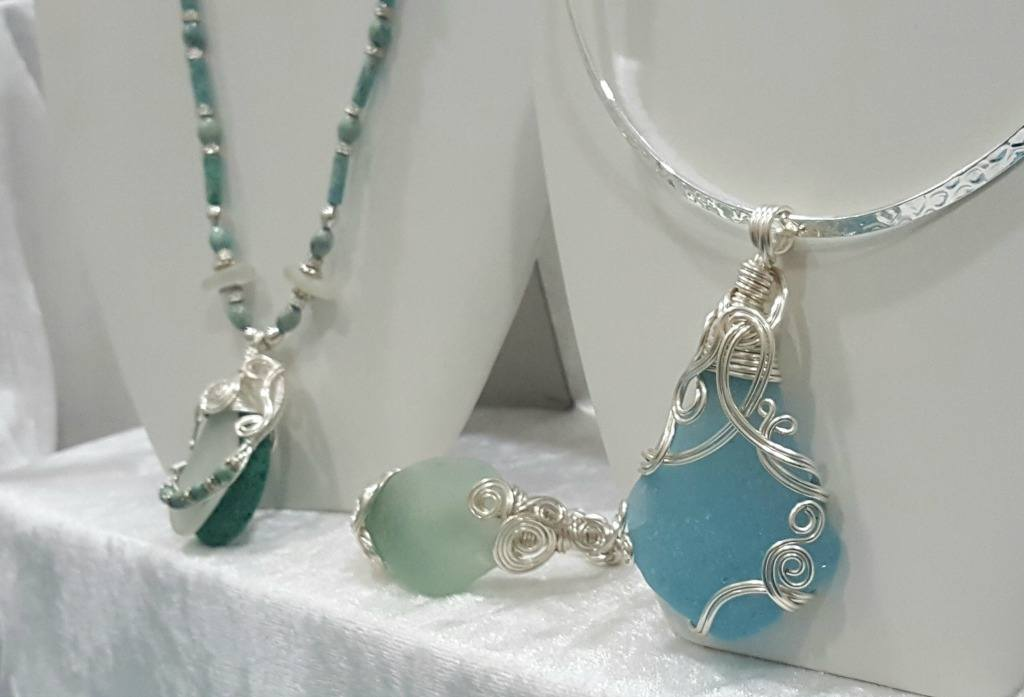 Beach glass is often made into jewelry.