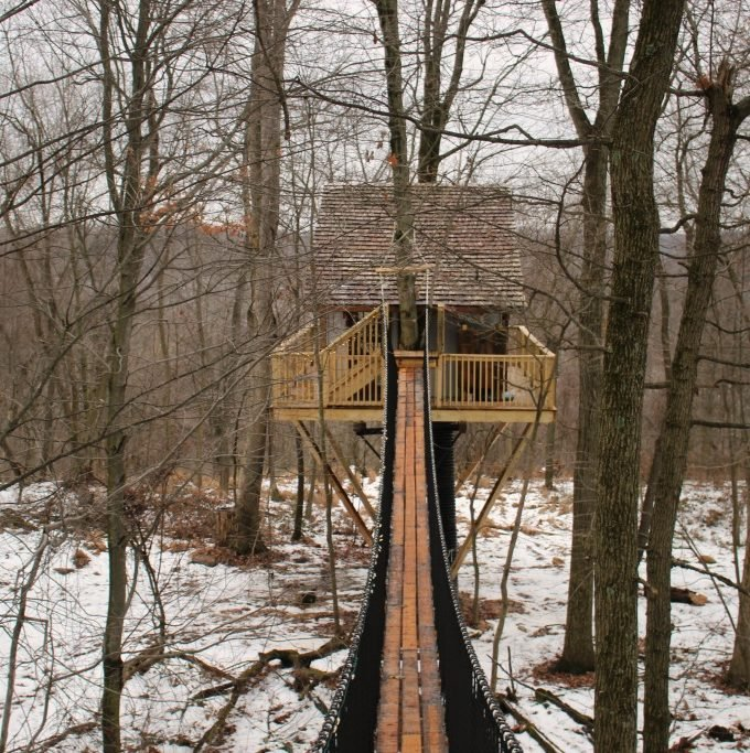 Treehouses in Ohio: the Tin Shed Treehouse Review