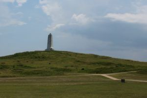The monument at the Wright Brothers Memorial in North Carolina