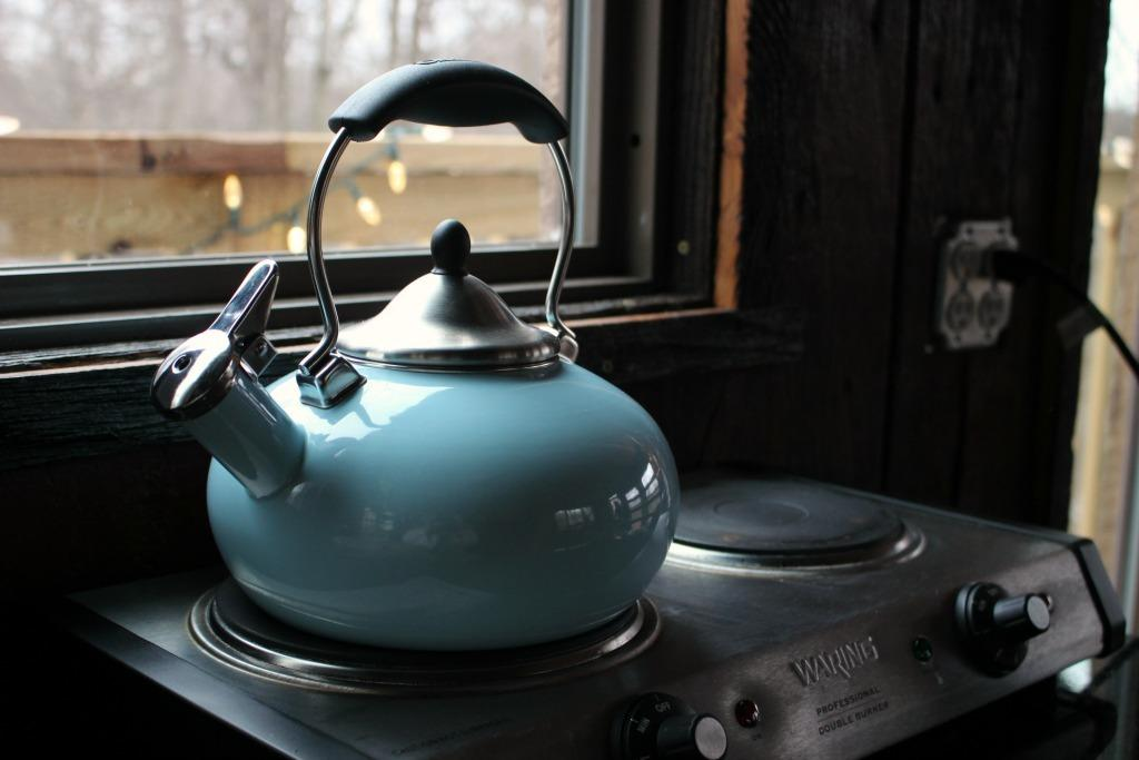 coffee pot in the tin shed