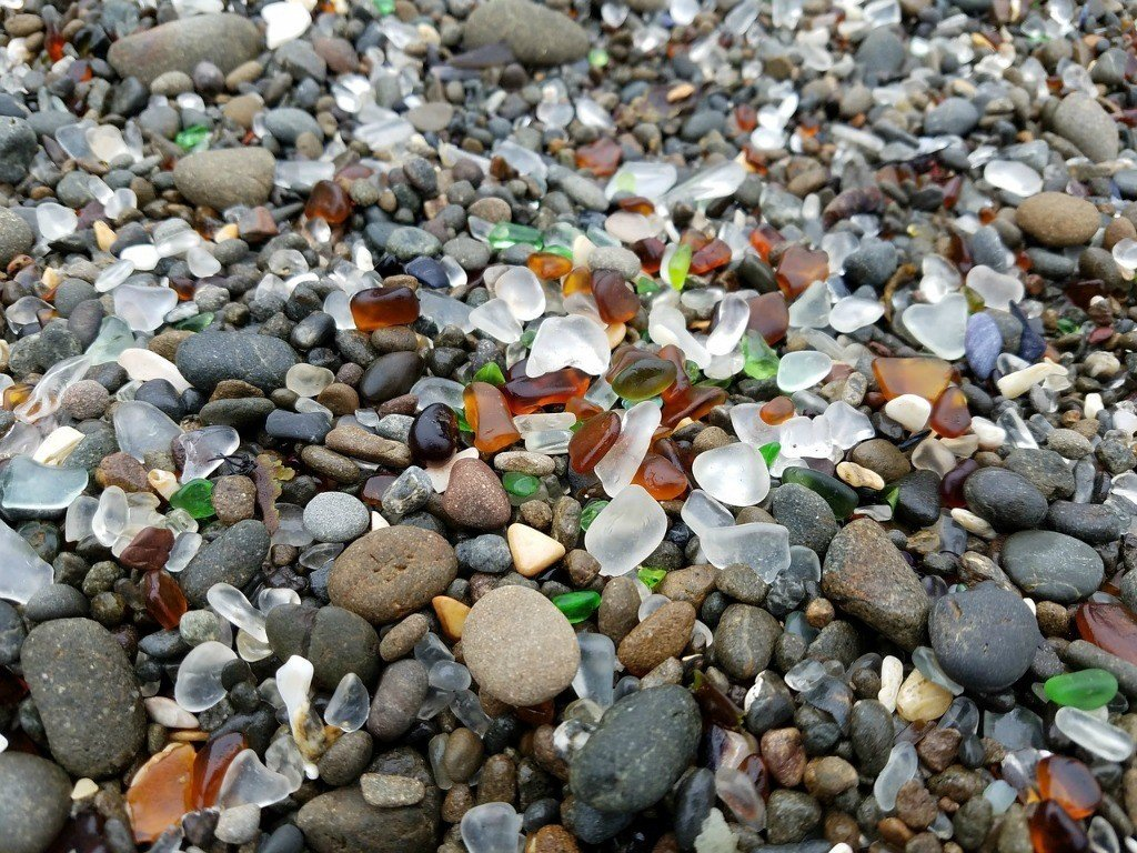 Fort Bragg's Glass Beach is a popular attraction in California.