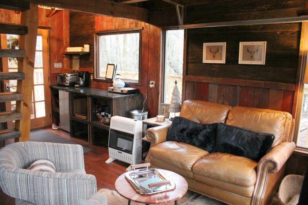 Tin Shed Treehouse living room