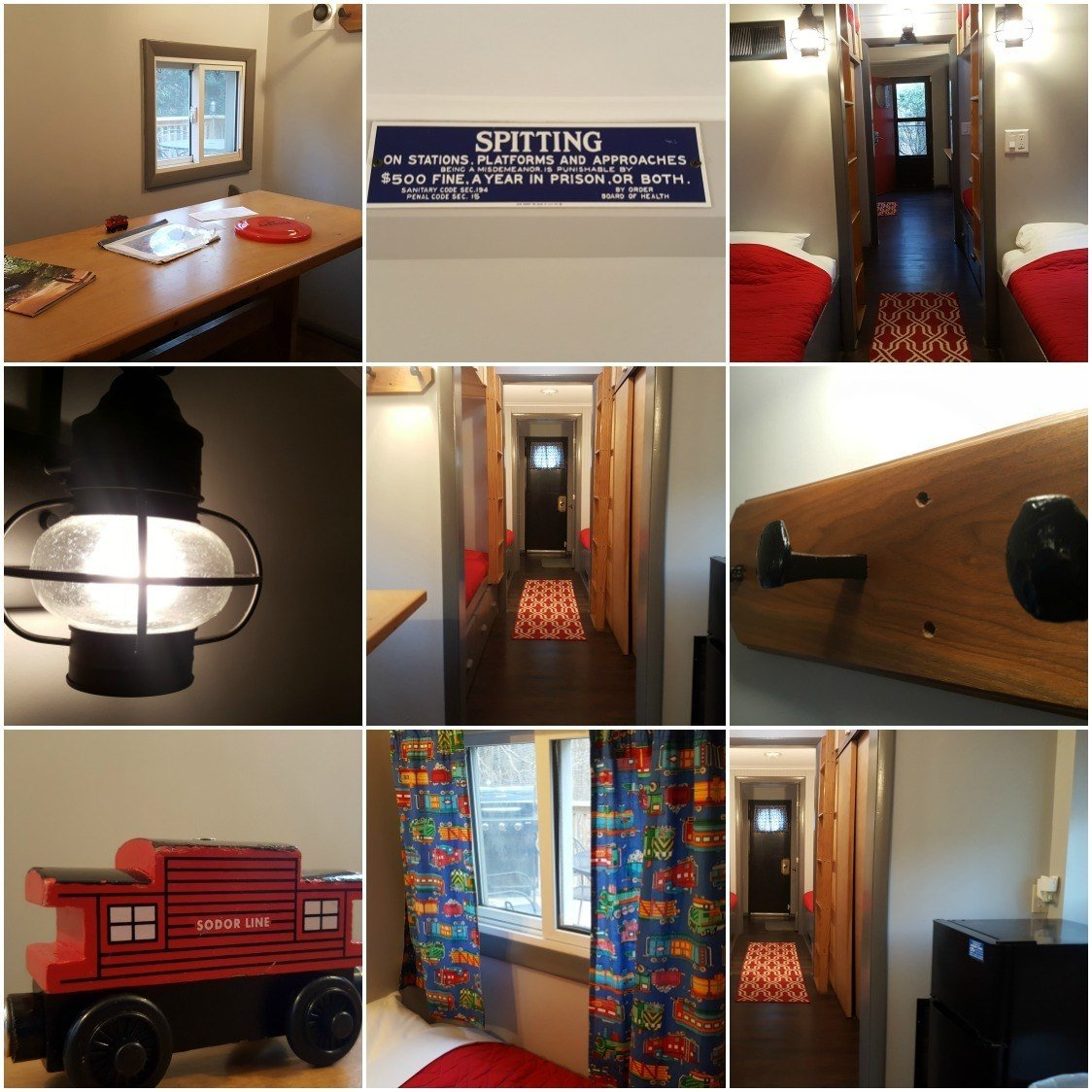 A glimpse Inside the Hocking Hills Caboose