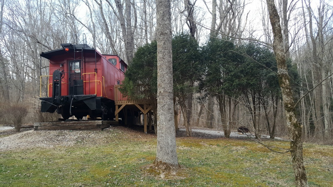 Outside the Hocking Hills Caboose