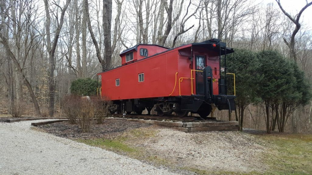The Hocking Hills Caboose is a former working caboose turned family-friendly cabin in Hocking Hills.
