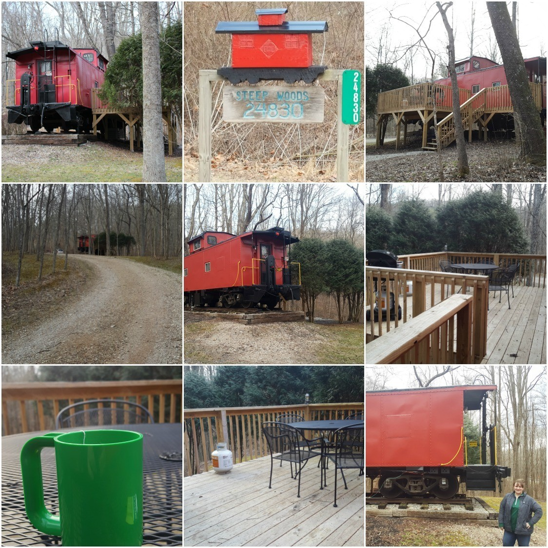 a few photos from outside the Hocking Hills Caboose