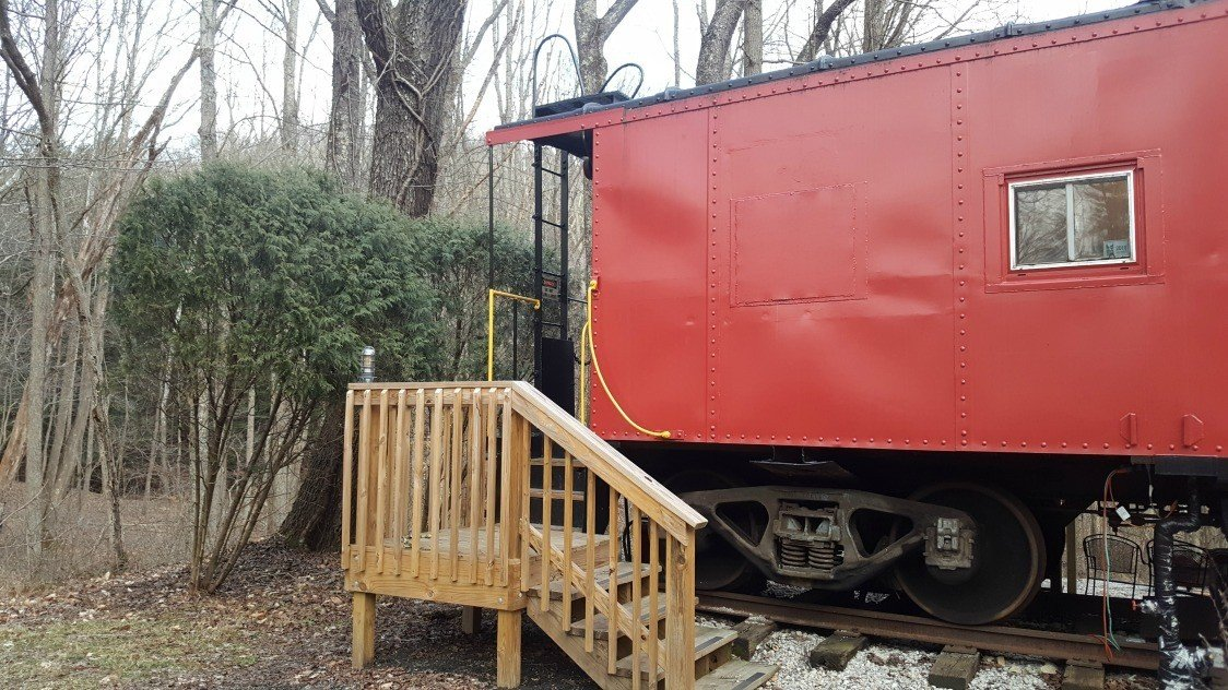 entering the caboose