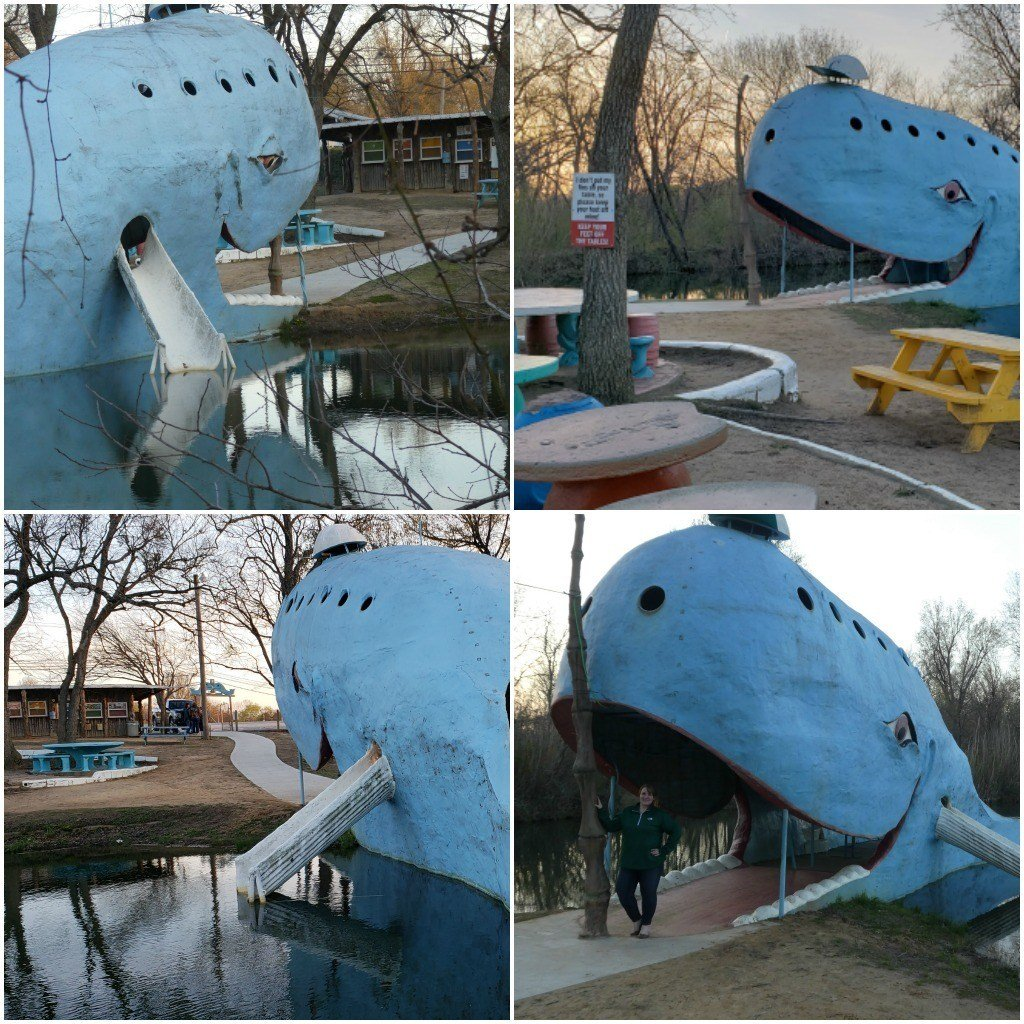 Photos taken at the Blue Whale of Catoosa roadside attraction along Route 66 in Oklahoma