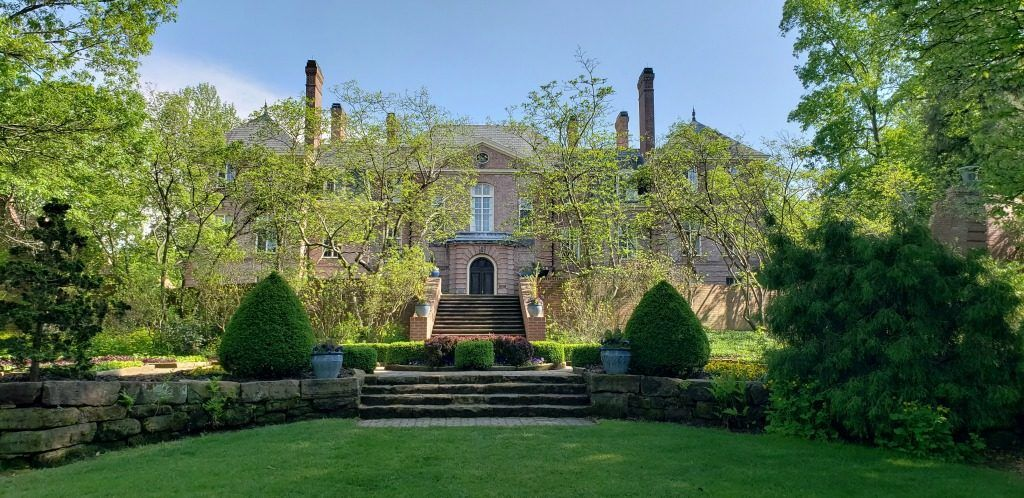 Kingwood Hall, the mansion on the estate and formal gardens of Kingwood Center Gardens in Mansfield, Ohio.