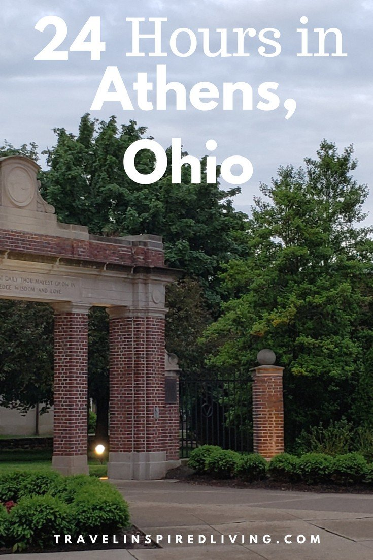24 -hours in Athens, Ohio- where to stay, what to see and what to eat in this charming southeastern Ohio town.