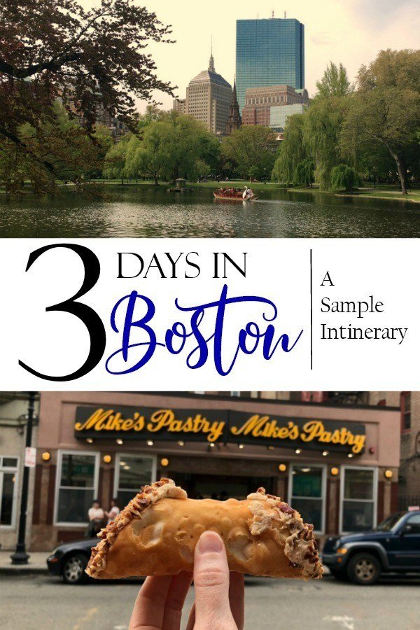 A sample itinerary of how to spend three days in Boston