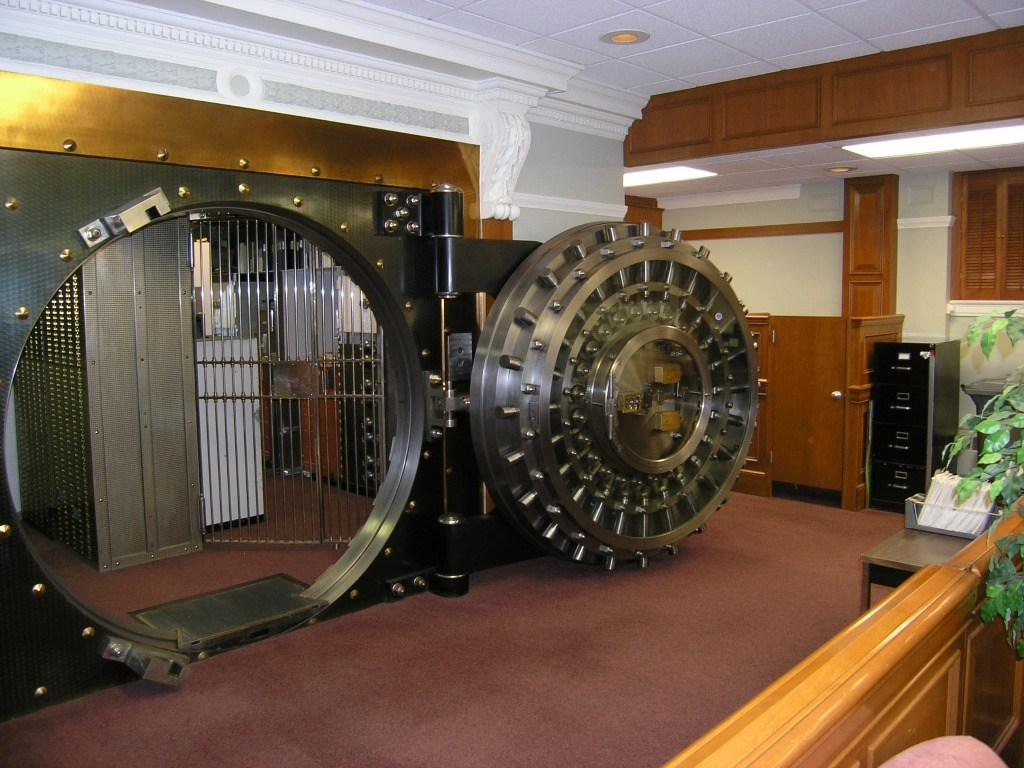 The interior of the Maine National Bank