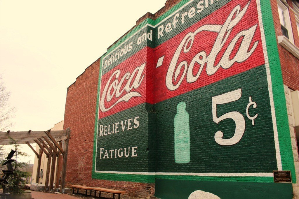 Coca Cola mural in Mount Airy