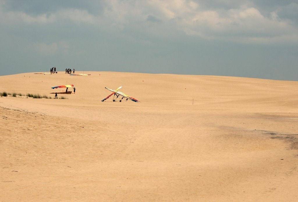 Sand dune hang gliding course