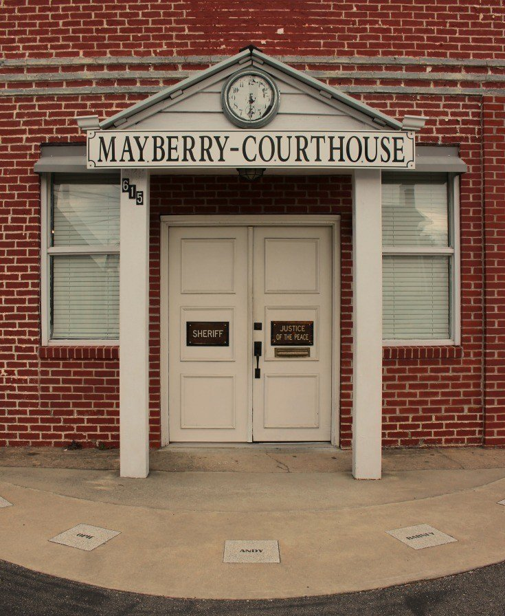 A replica of the Mayberry Courthouse from the Andy Griffith Show can be found in Mount Airy NC