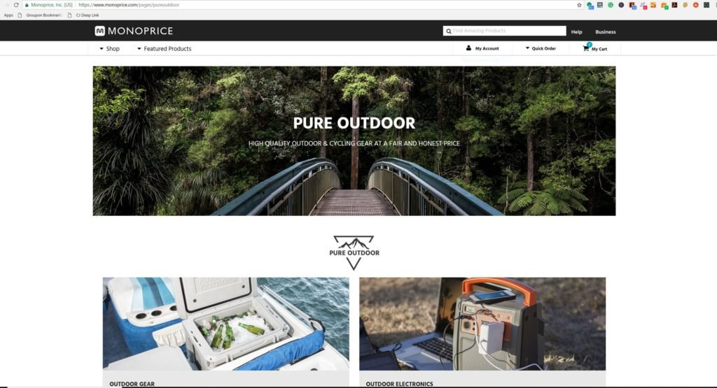 Monoprice has over 7000 items on their website from outdoor gear to electronics, to home appliances all at affordable prices.