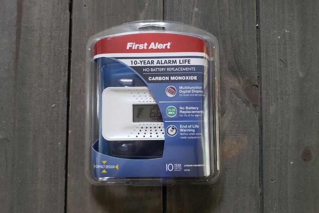First Alert Carbon Monoxide detector still in the packaging
