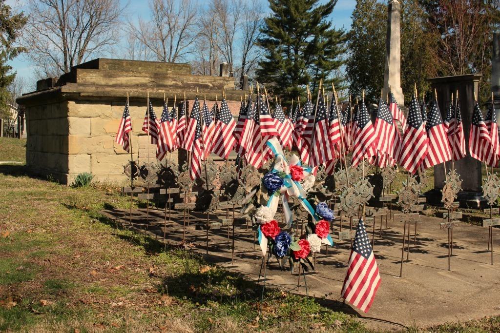 Military gravesite in Marietta